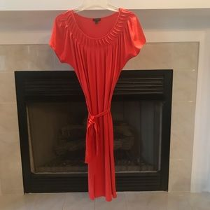 Talbots Coral Fit & Flare Small Dress